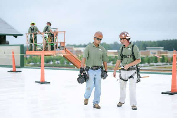 Mid-South Roof Systems sheet metal workers, safe roofer