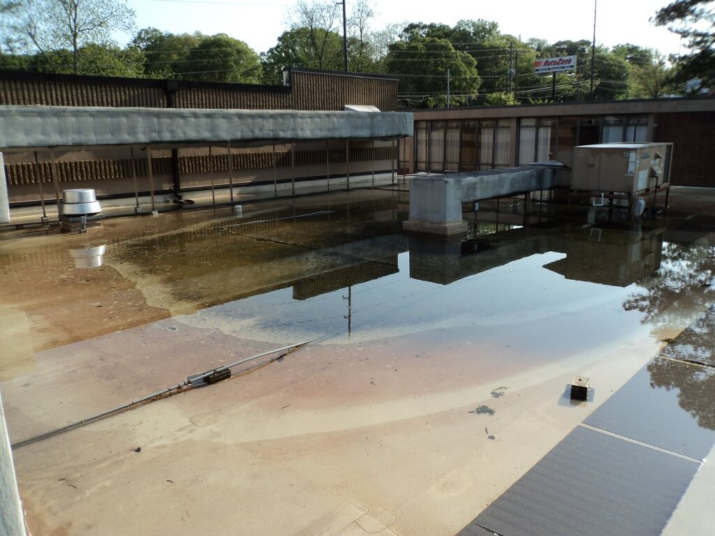 Mid-South Roof Systems commercial roof hazards ponding water atop roof
